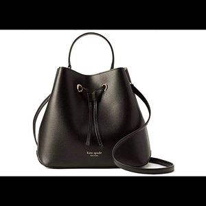 Kate Spade NWT Large Bucket Bag Black Eva WKRU5856